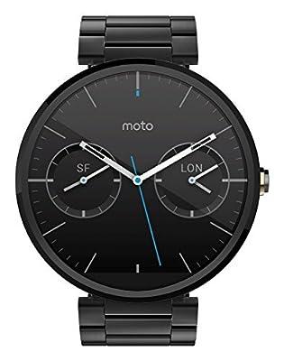 Motorola Moto 360 Smart Watch - Black Leather (Certified Refurbished)