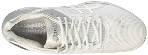 Silver 0193 Zapatillas Blanco para de Mujer Speed White 3 Asics Gel Solution Tenis 7aqggP