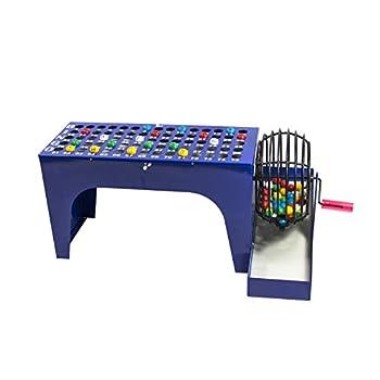 Image of MR CHIPS Bingo Set with Bingo Cage, Bingo Balls and Bingo Masterboard- All-in-One Table Top Bingo Machine Bingo Sets