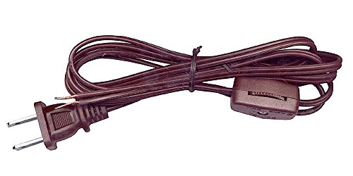 - National Artcraft Lamp Cord w/Rotary Switch & Stripped Ends Ready for Wiring, 6 ft. Brown