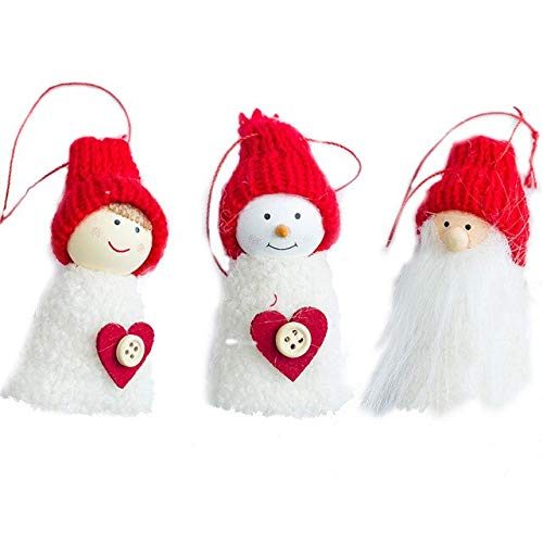 Pinecone Tree Gift Set - Cacys-Store - 3 Pcs/Set New Christmas Hanging Ornaments Pine Cone Plush Xmas Doll Gift Tree Pendant Christmas Decorations Supplies For Home