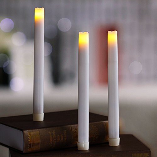 LED Flameless Taper Candle with Timer, 9