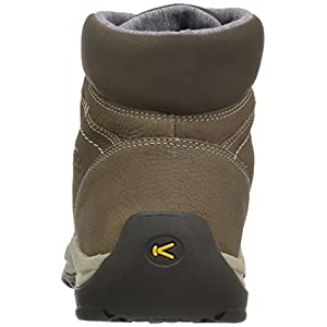 KEEN Women's Kaci Winter Mid WP-w Rain Boot, Brindle/Inca Gold, 7.5 M US