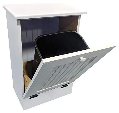 Tilt Out Wooden Trash Cabinet (Solid - Cottage White)
