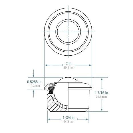 1-3//16 Diameter Case of 4 Hudson Bearings HDBT-1-3//16 Drop in Heavy Duty Mounted Carbon Steel Ball Transfer 500 lbs Load Capacity Stainless Steel