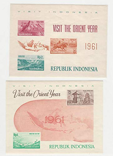 (Indonesia, Postage Stamp, 516a Mint NH Sheets, 1961, JFZ)