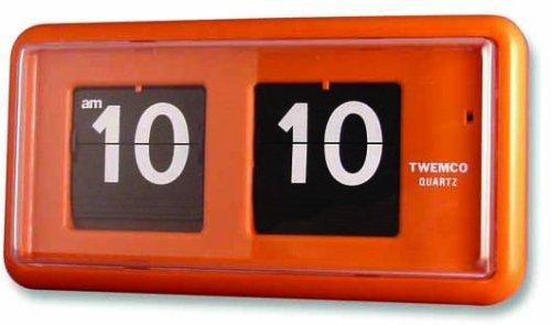TWEMCO (トゥエンコ) 掛け時計 置き時計 兼用 QT-30 Orange B00170M1FO