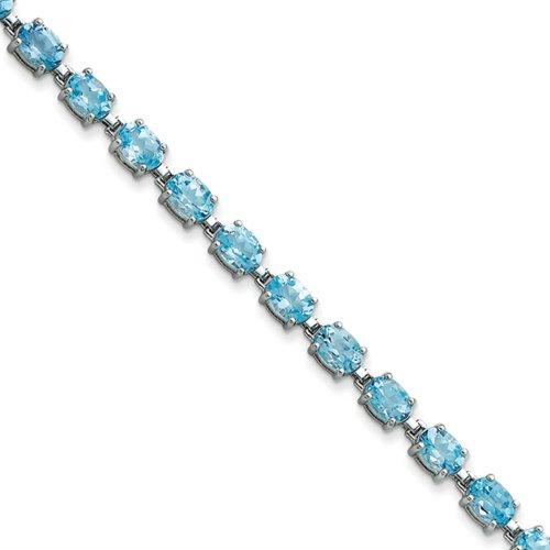 Icecarats Créatrice De Bijoux En Argent Sterling Topaze Bleue Bracelet En 7 Pouces