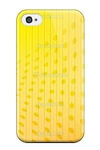 AmandaMichaelFazio Iphone 4/4s Well-designed Hard Case Cover Fresh Yellow Print Protector