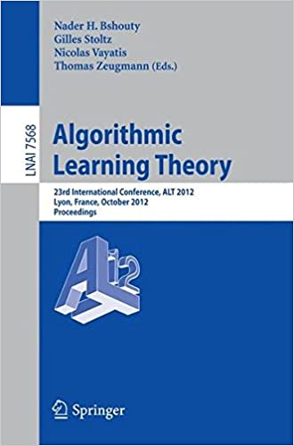 PDF eBooks free download Algorithmic Learning Theory: 23rd International Conference, ALT 2012, Lyon, France, October 29-31, 2012, Proceedings (Lecture Notes in Computer Science) 3642341055 (Literatura portuguesa) PDF