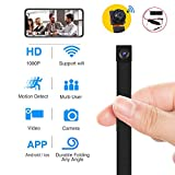 WiFi Spy Hidden Camera, Funcilit Mini Spy Camera 1080P HD Wireless Home Office Monitoring Security Camera Nanny Cam Button Cam with Motion Detection Loop Recording for iPhone/Android/iPad/PC