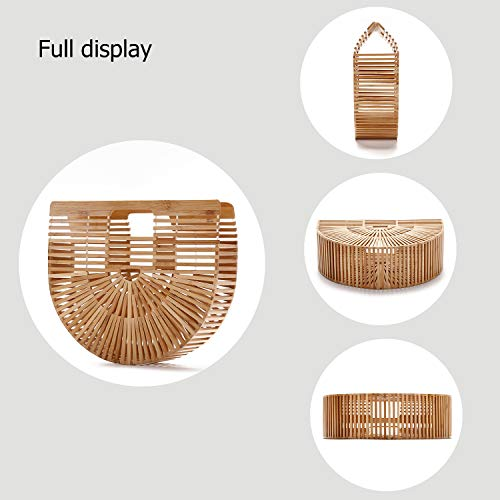 Women Bamboo Purse Handmade Handbag Wooden Tote Straw Bag by vodiu (Image #2)