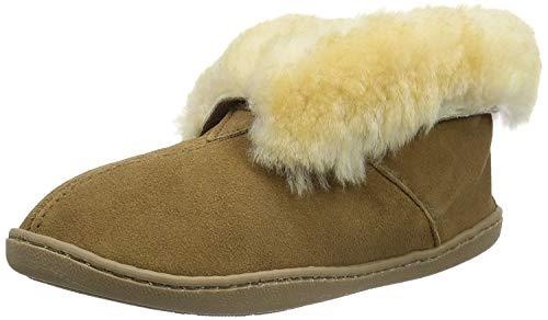 (Minnetonka Women's Sheepskin Ankle Boot Golden Tan 11 W US)