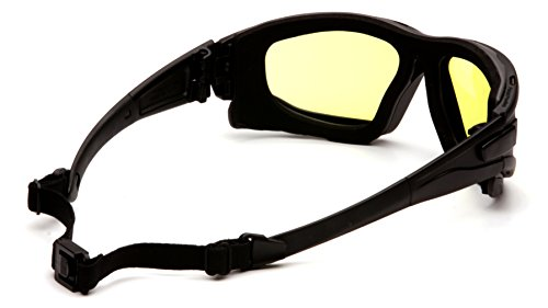 Pyramex I-Force Slim Safety Goggle, Black Frame/Amber Anti-Fog Lens by Pyramex (Image #1)