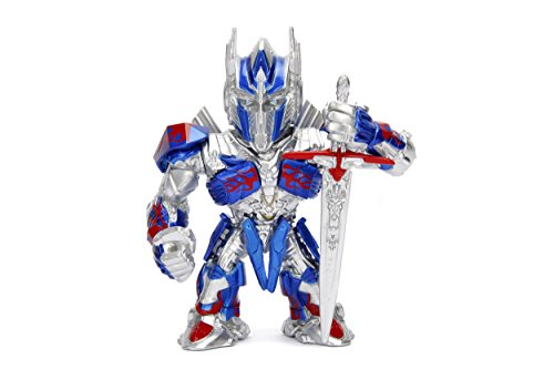 Transformers Metal Toy (Metalfigs Transformers-the Last Knight Optimus Prime (M407) Metals Die-Cast Collectible Toy Figure, Multicolor, 4