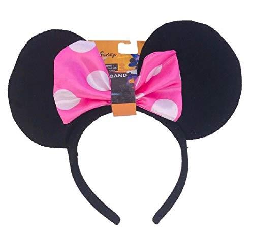 Disney Minnie Mouse Ears Halloween Headband - Pink Polka Dot Bow -