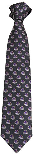 NCAA Boise State Broncos Primary Logo Tie, Charcoal, One Size