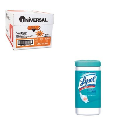 KITRAC77925CTUNV21200 - Value Kit - LYSOL Brand Ocean Fresh Scent Sanitizing Wipes (RAC77925CT) and Universal Copy Paper (UNV21200)