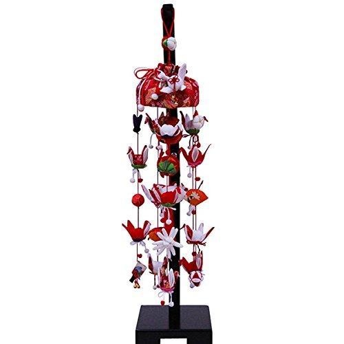 吊るし飾り 祝い鶴 小 スタンド付き sb-3-2s 飾り台セット   B075L7TWLV
