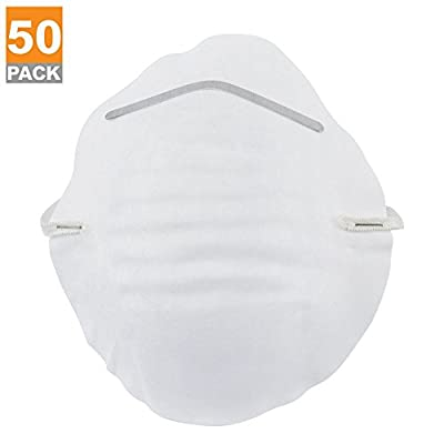 Domeiki 50pc Dust Mask Respirator Antidust Paint & Chemical Safety Disposable Cotton
