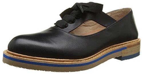 Neosens S926 Restored Skin Ebony Albilla, Chaussures Derby Femme Noir (Ebony)