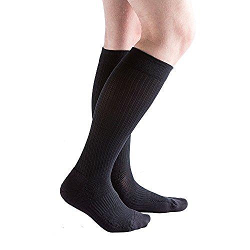 にんじん宙返り貸すvenactiveメンズクッションリブ圧縮ソックス、15 – 20 mmHg膝高