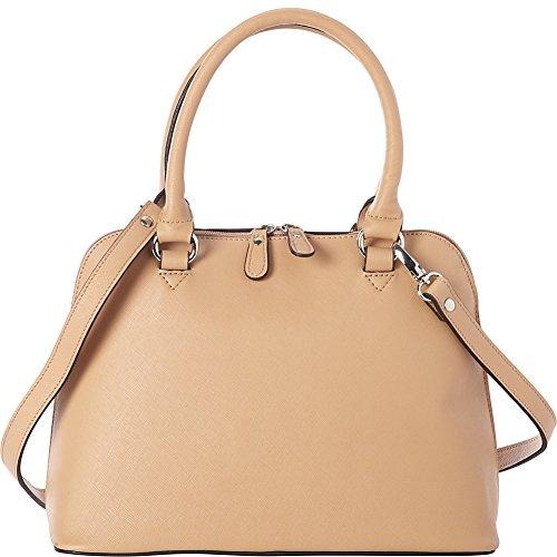 Bella Handbags Samantha Satchel (Tan) (Bella Bag)