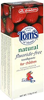 product image for Tom's of Maine Natural Fluoride-Free Toothpaste for Children, Silly Strawberry, 4-Ounce Tube