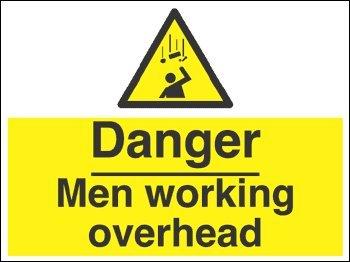 Warnzeichen-Danger Men die Kopf-, selbstklebend, Vinyl, 600 x 450 mm)
