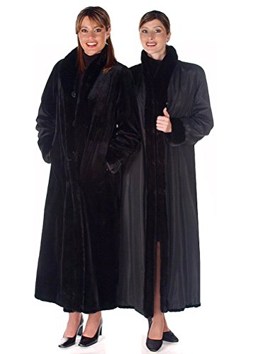 Madison Avenue Mall Womens Sheared Mink Fur Coat Full Length Reversible To Fabric SZ - Mall Madison