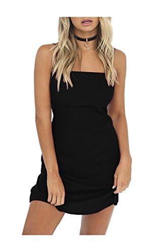 Strappy Party Short Backless Dresses Dress Sexy Women Beach Carprinass Summer Black qTw67tRxn