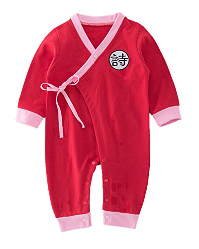 StylesILove Baby Toddler Boys Traditional Chinese Inspired Long Sleeves Rompers (90/12-18 Months, Poetry)