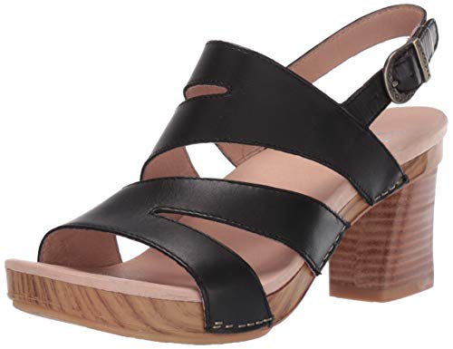 Dansko Women's Ashlee Sandal, Black Burnished Calf, 36 M EU (5.5-6 US) from Dansko