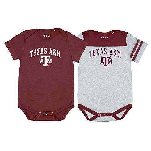 Elite Fan Shop Texas A&M Aggies Infant Onesie 2 Pack - 3M - Maroon