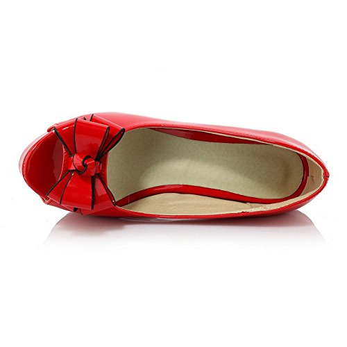 Balamasa Jenter Høye Hæler Peep-toe Patent Skinn Sandaler Røde