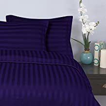 Elegant Comfort 1500 Thread Count-Damask Stripes-Egyptian Quality Luxurious Silky Soft Wrinkle and Fade Resistant 3Piece Duvet Cover Set, King/Cal-King, Purple