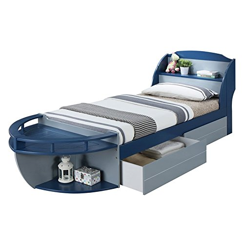 (ACME Neptune II Kids Underbed Drawer in Gray (Set of 2))