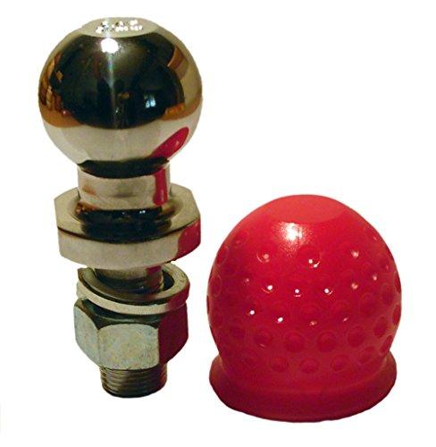 Anhängerkupplungskugel mit Abdeckkappe rot für Ackerschiene Rasentraktor (2 tonnen)
