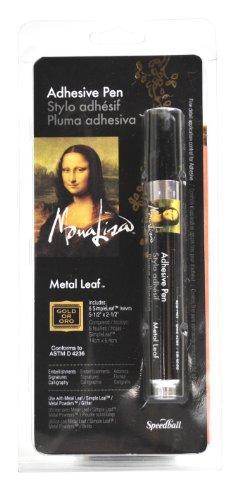 Speedball Mona Lisa Adhesive Pen and Gold Simple Leaf Set - Leaf Paint Pen