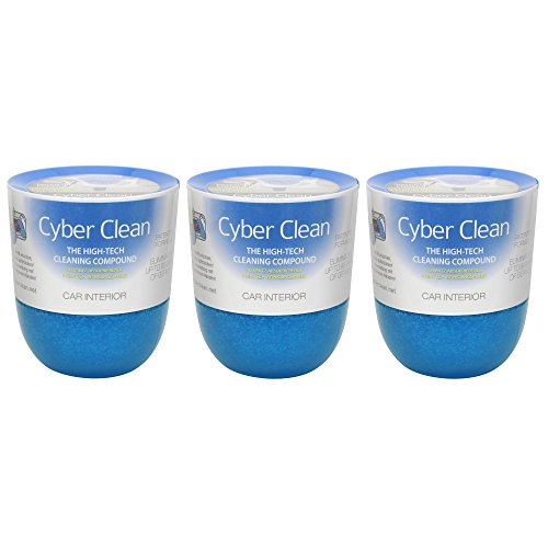 Cyber Clean Car Interior Detailer Cup 5.64 Ounce (160 Grams), Pack of 3