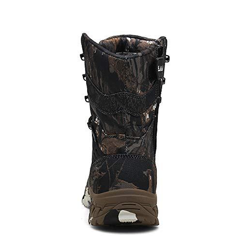 WOJIAO Outillage Tactique pour Hommes Bottes Militaires Quatre Saisons imperméable Antidérapant Chaussures pour Hommes… 2