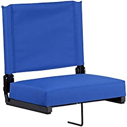 Flash Furniture Grandstand Comfort Seats by Flash with Ultra-Padded Seat in Blue