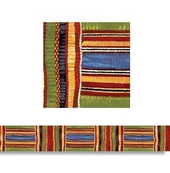 Kente Cloth Borders Straight Edge by MotivationUSA ()
