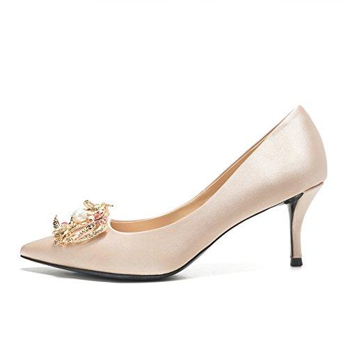 Chaussures color Robe 6CM Chaussures Hauts Fille HUAIHAIZ Soirée de Escarpins Hauts Cristal Champagne de Femme Chaussures Chaussures ou Talons Mariée Talons Mariage de nnI10q