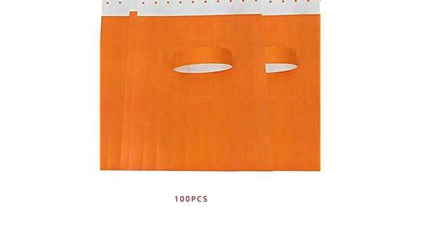 Ben-gi no Tejido de 100 Piezas//Set Impermeables Desechables Eventos Pulseras boleto de la admisi/ón Tela Pulseras de Papel Parque de Atracciones