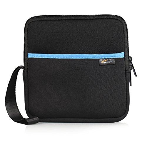 External DVD Drive Case, Newdy Waterproof Moisture Neoprene Travel Storage Case Bag for DVD CD Blu-ray Burner, Floppy Drive/Apple MD564ZM/A Super Drive, Apple Magic Trackpad, SAMSUNG / LG / Dell-Blue