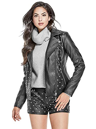 GUESS Women's Rocky Embellished Moto ()