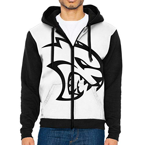 Men's Hoodies Dodge Hellcat SRT Pullover Sweatshirts Hooded with Pockets Jackets Black