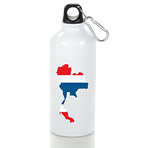 NO2XG Thailand Country With Thai Flag Vacuum Bottle,Rustless Space Cup,Convience Outdoor Journey Water Bottle by NO2XG