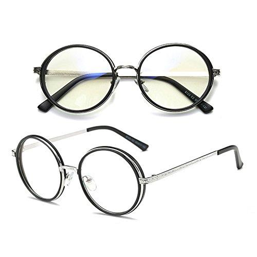 métal ronde à arrondi résistants black anti bleus léger verres rétro Monture style bord monture oculaires sans Delaying à de Verres Scrub en p0fWnOg